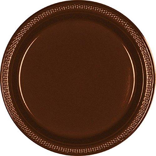 Chocolate Brown Plastic Plates | 9