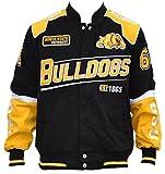 Big Boy Headgear Bowie State University Bulldogs Men's Twill Racing Jacket 4XL Black