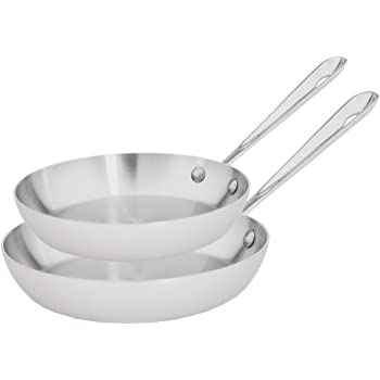 Amazon Com All Clad D5 Set Of 2 French Skillets 9 Inch
