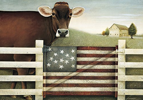 Lang  American Cow Petite Note Cards by Lowell Herreroy, 3.5 x 5 inches, 12 Cards and 13 Envelopes (2080035)