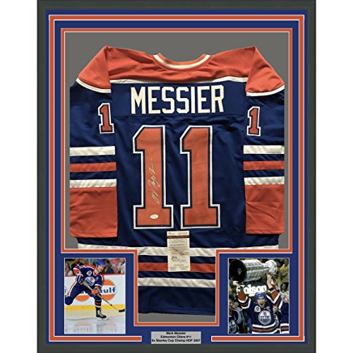 reputable site b33a2 116e3 Framed Autographed/Signed Mark Messier 33x42 Edmonton Oilers ...