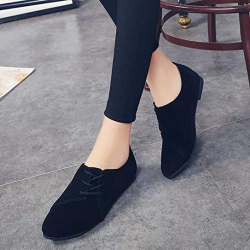 Plana Las Casual Moda Cabeza Encaje Ouneed Mujeres Abajo Negro Ni Mujer Zapatos as Zapatos para 4xzHqzU