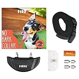 Fiddo No Bark Collar Shock Control Training System w/7 Adjustable Stimulation Levels (Manual included)