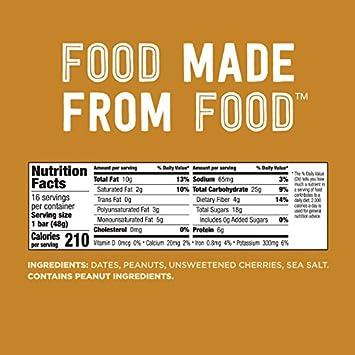 Larabar Gluten Free Bar, Peanut Butter Jelly, 1.7 oz Bars 16 Count , Whole Food Gluten Free Bars, Dairy Free Snacks