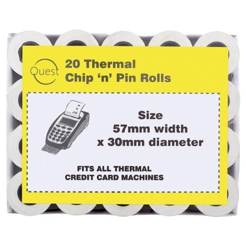 Quest 20 Thermal Chip 'n' Pin Receipt Rolls 57mmx30mm