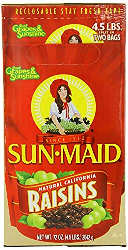 Natural California Raisins, 4.5-Pounds Package (Premium pack)
