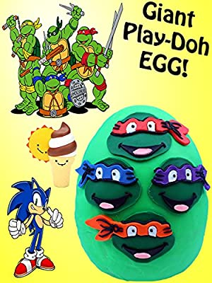 GIANT TMNT Play Doh Surprise Egg | BFFs Teenage Mutant Ninja Turtle Blind Bags / Boxes