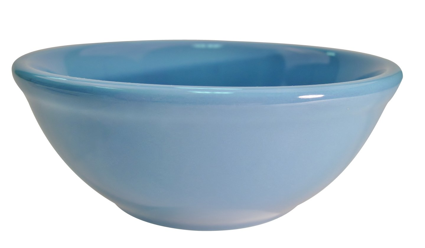 CAC China LV-15-LB 5-5/8-Inch Las Vegas Rolled Edge Stoneware Nappie Bowl, 12-1/2-Ounce, Light Blue, Box of 36