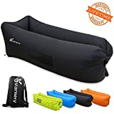 Vansky Inflatable Lounger, Inflatable Couch Hammock Portable Air Chair Air Filled Beach Lounger, Nylon Fabric Hangout Sofa Bag, Outdoor or Indoor Inflatable Chair for Camping,Beach,Park,Backyard