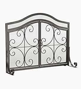 Amazon Com Small Crest Flat Guard Fireplace Screen Solid