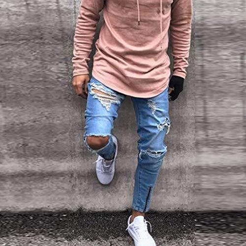 A Hop Pantaloni E Solido Fit In Jeans Skinny Chiusura Hip Slim Per Cherca Ciclisti Con Blau Colore Cher Di Da Uomo Allenamento Sportivi Yfg6Yr
