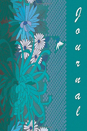 Journal: Teal and Flowers 6x9 - DOT JOURNAL - Journal with dotted pages (Flowers Dot Journal Series)