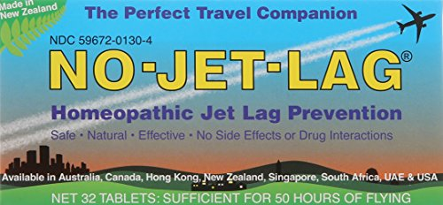 Lewis N. Clark No-Jet-Lag Homeopathic Flight Fatigue Remedy, 32 - Ingredients No Jet Lag
