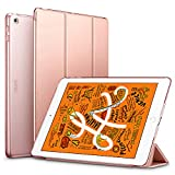 ESR Yippee Trifold Smart Case Specially Designed for iPad Mini 5 7.9' 2019, Auto Sleep/Wake Lightweight Stand Case, Hard Back Cover for iPad Mini 5 7.9' 2019, Rose Gold