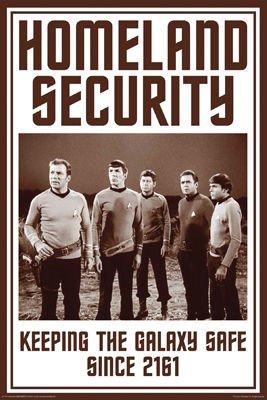 (Aquarius Star Trek Homeland Security Poster, 24 by 36-Inch)