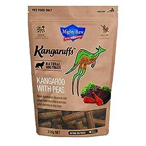 Mighty Raw Kangaruff Kangaroo with Peas Dog Treats 210 g, Click on image for further info.