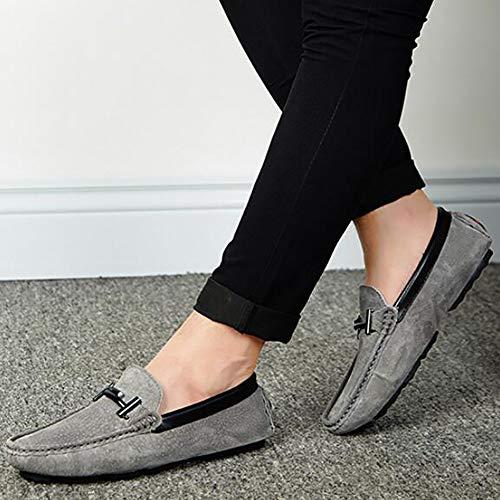 Pour Hommes aller Respirantes Et Chaussures Confortables Pois À Plats one Légères Conduite Mocassins Yuan Tout Gray De Slip tq1xw4IqX