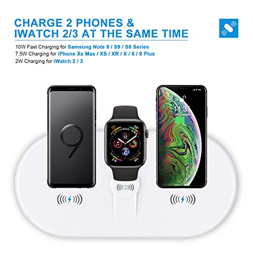 Wireless Charger Pad for New AirPods [ 3 in 1], YLEX Charging Station for Apple iWatch 4/3/2, Qi Charger for iPhone Xs Max/XR,Fast Charging for Samsung Galaxy S10/S10+ and More 5962930433