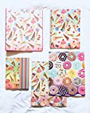 School Supplies- Ice Cream Folder, Personal Journal, 1'' 3 Ring Binder Plus Additional Donut Folder- Pack of 5
