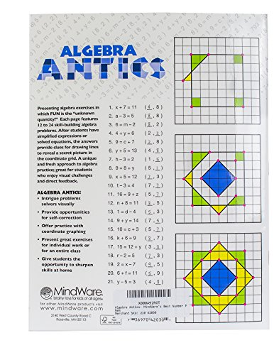 Workbook coordinate plane worksheets that make pictures : Amazon.com: Algebra Antics: MindWare's Best Number Problems ...
