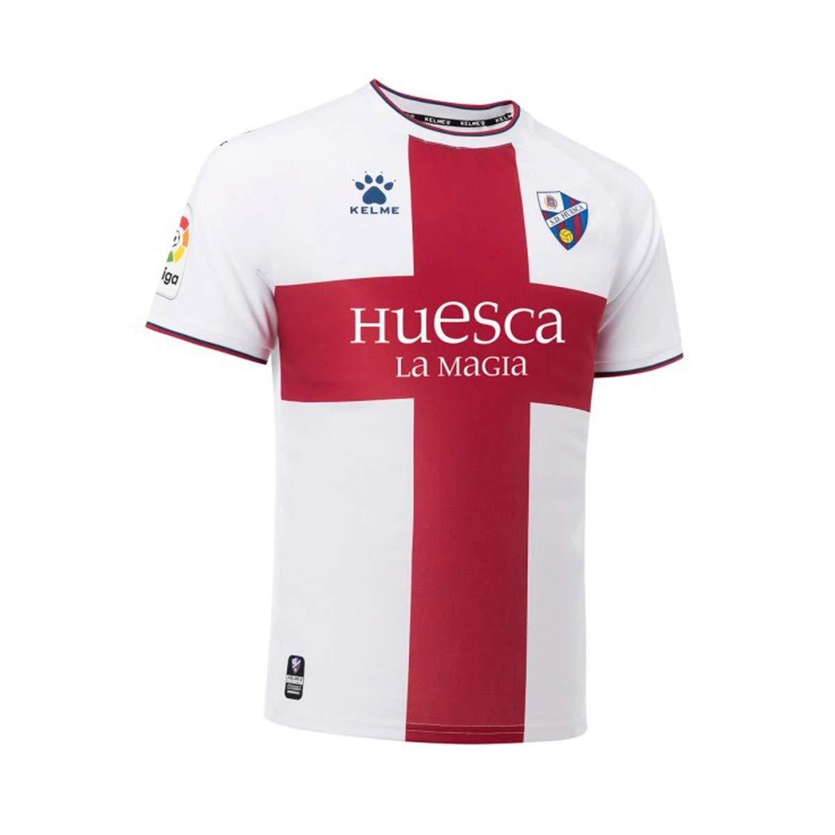 KELME SD Huesca Segunda Equipación 2018-2019, Camiseta, Blanco-Granate: Amazon.es: Deportes y aire libre
