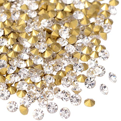 ARRICRAFT 1 Bag 720pcs Back Plated Grade A Diamond Glass Pointed Rhinestone Crystal for DIY Jewelry (Crystal Point Back Rhinestone)