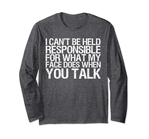 Unisex I Can't Be Held Responsible For What My Face Does T-shirt Small Dark - On My What's Face