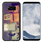 Luxlady Samsung Galaxy S8 Plus S8+ Aluminum Backplate Bumper Snap Case IMAGE ID: 34010862 coffee maker espresso machine on the table wood vintage color made by Luxlady Inc