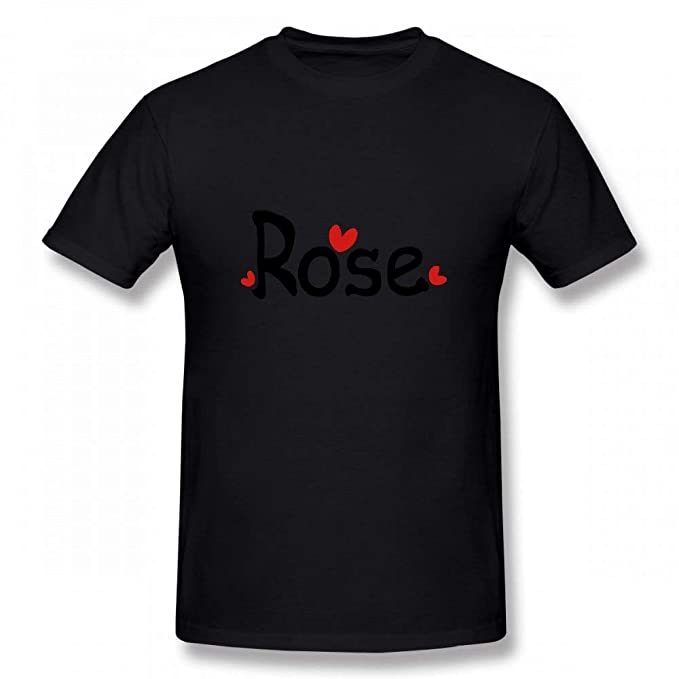 3d4a6c25 Amazon.com: Name Rose TXT Red Hearts Customizable Personalized Men's T-Shirt  Tee: Clothing