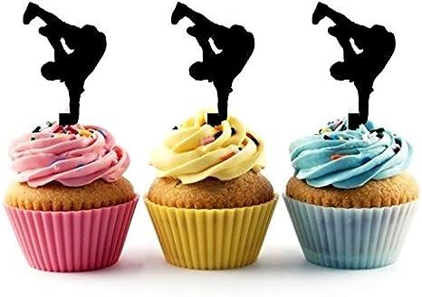 Peachy Amazon Com Ta0253 Hip Hop Dancing Silhouette Party Wedding Funny Birthday Cards Online Inifodamsfinfo