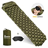 Relefree Inflatable Sleeping Pad Camping Sleeping Air Mat with Pillow Ultralight 1.5lb Comfortable