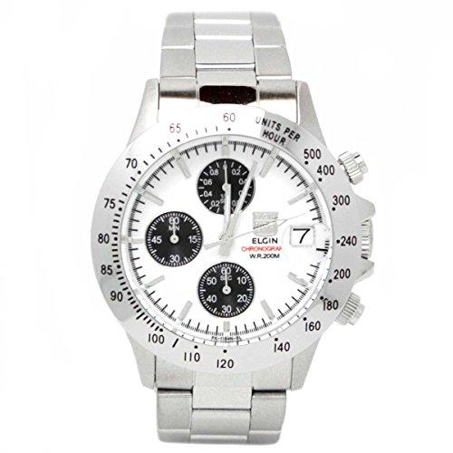 - ELGIN watch chronograph FK1184S-W Men's