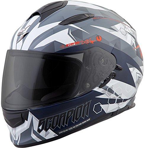 ScorpionExo Unisex-Adult full-face-helmet-style EXO-T510 Helmet (White,X-Large), 1 Pack