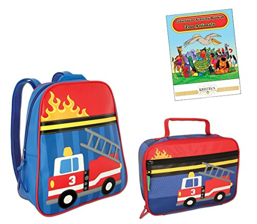 Stephen Joseph Go Go Backpack, Lunch Box, & Coloring Book, ()