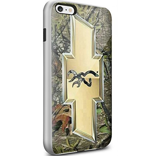 Chevy Logo with a Deer on the Inside for Iphone and Samsung Galaxy (iPhone 6 / 6s white)