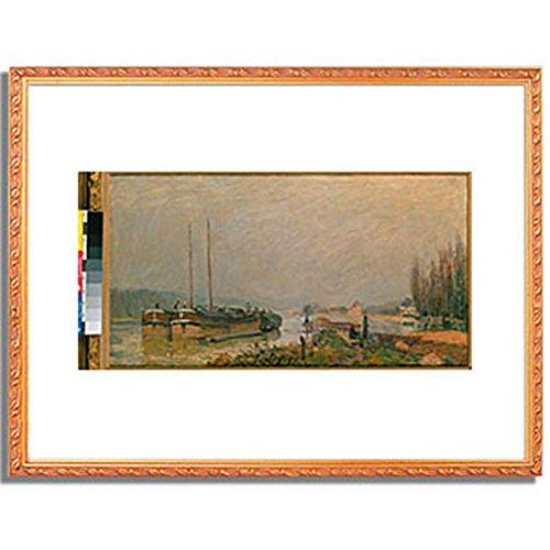 アルフレッドシスレー「At the riverbank of the Seine. 1879 」 インテリア アート 絵画 プリント 額装作品 フレーム:装飾(金) サイズ:S (221mm X 272mm) B00NKQZIGC 1.S (221mm X 272mm)|4.フレーム:装飾(金) 4.フレーム:装飾(金) 1.S (221mm X 272mm)
