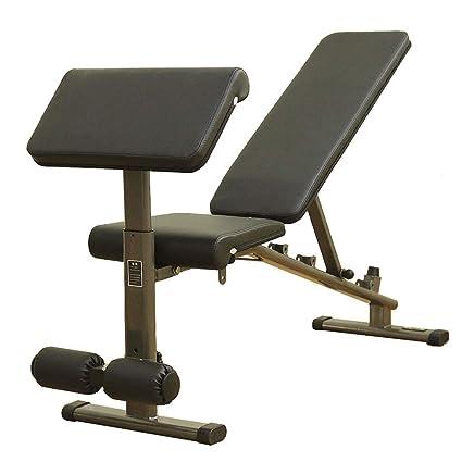 Bancos ajustables Multi-función de banco de pesas con mancuernas silla de fitness tabla de