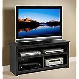 Prepac Black Vasari Flat Panel Plasma/LCD TV Console Stand