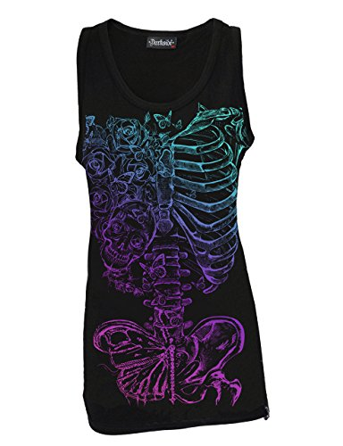 Darkside, Butterfly Ribs Black – Baumwoll Shirt ohne Ärmel