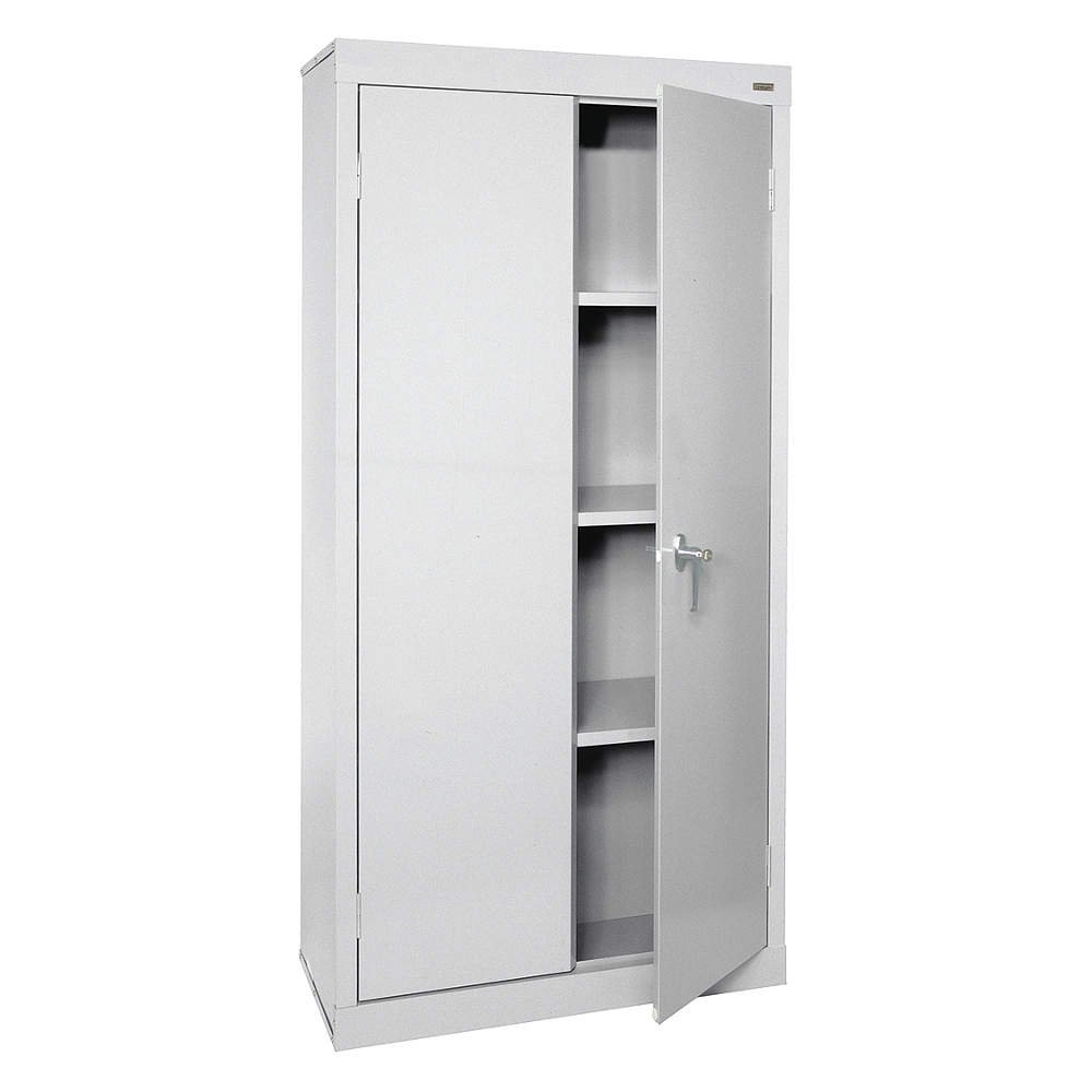Sandusky Lee Vf31301872 05 Storage Cabinet Value Line With 3 Fixed Shelves 30 W X 18 D X 72 H Dove Gray Industrial Scientific Amazon Com