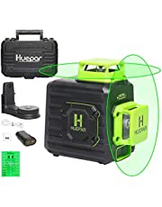 Huepar Laser Level 2 x 360 Cross Line Self-Leveling , 360° Green Beam Dual Plane Leveling and Alignment Laser Tool, Li-ion Battery with Type-C Charging Port & Hard Carry Case Included - B02CG