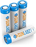 SunLabz 18650 3.7V Rechargeable (4-Pack) Flat Top Battery Cells 2600mAh