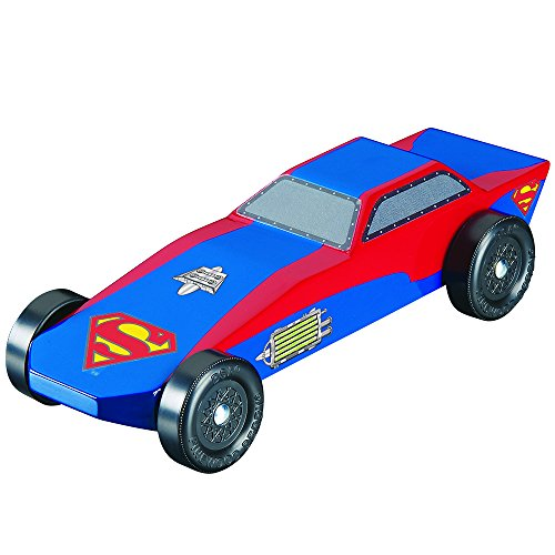 Revell Offical Wheels and Axles Pinewood Derby Superman Racer Kit
