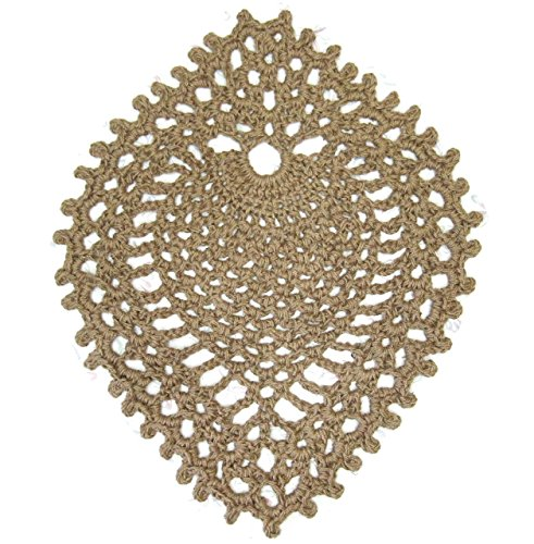 "Jute Area Rug - Pineapple - Hand Crochet - 39"" x 30"""