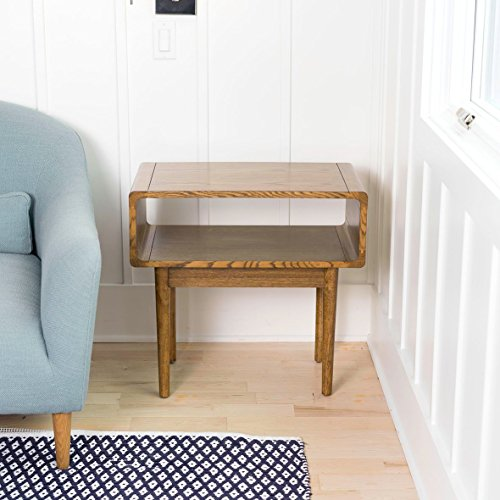 Buy mid century side table with storage