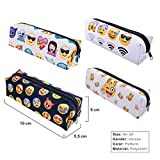 YouVogue Cute Emoji Pencil Case Coin Purse Pouch Cosmetic Makeup Bag with Zipper for Kids Girls Students Teenagers, Set of 4