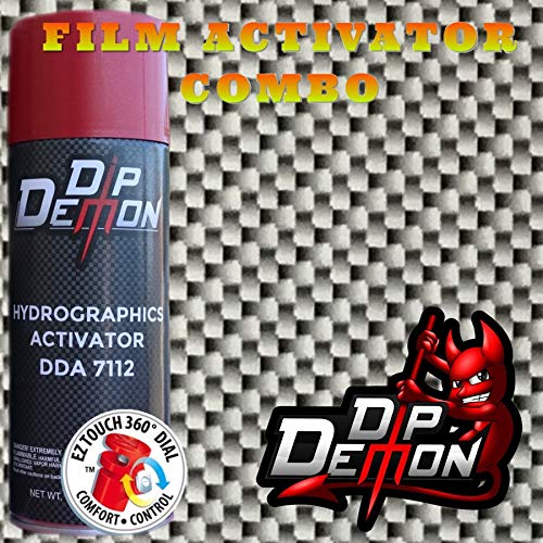 Hydrographic Film Real Carbon Fiber Combo Kit Black and Silver Carbon Fiber Real Carbon Fiber Look Hydro Graphic Water Transfer Film Activator Hydro Dipping Dip Demon