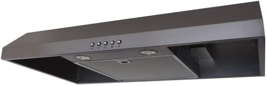 Presenza QR045 30 in. Under Cabinet Range Hood in Stainless Steel with 2X LED Light