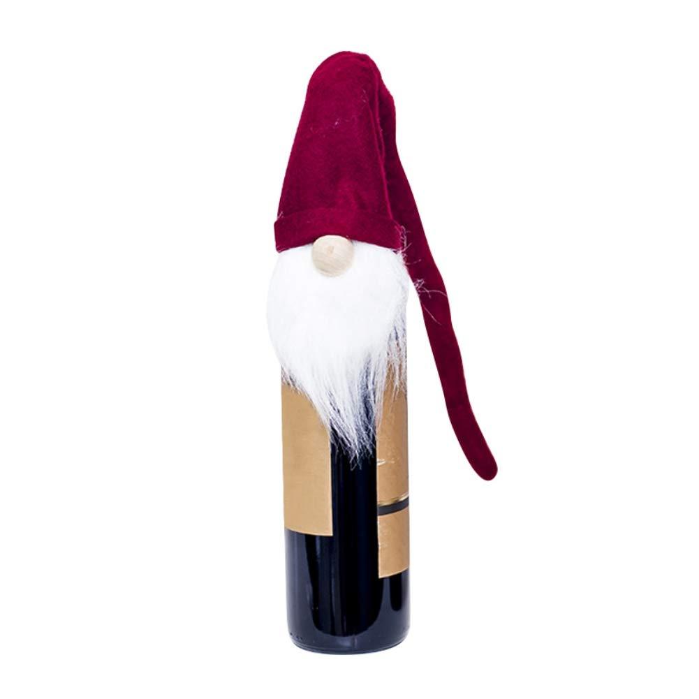 EFINNY Weihnachten Champagner Flasche Cover Handgemachte Handwerk ...