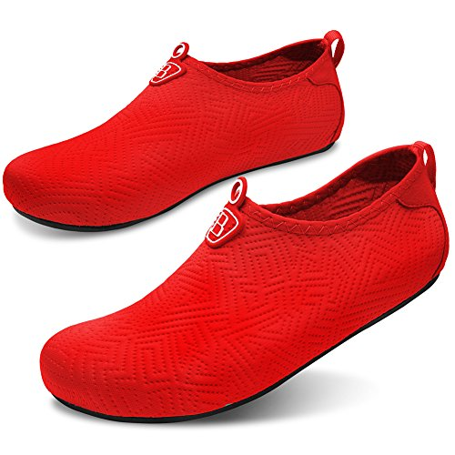 Socks For Water Quick Barerun Red Shoes Yoga Women Kids Lightweight and Aqua Beach Pool Men Exercise Surf Dry WrWPTvn